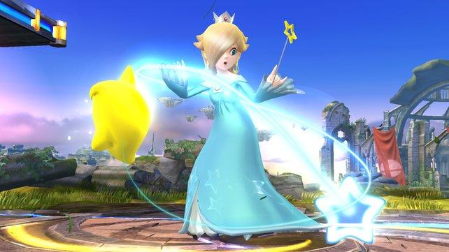Die platinblonde Rosalina ist neu in der Smash-Arena.