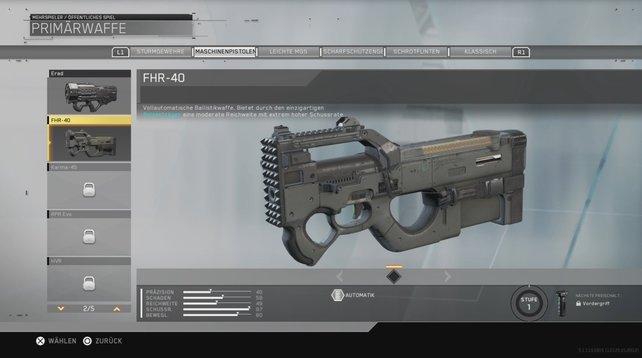 FHR-40: Der Bolzenträger ist einzigartig unter den Maschinenpistolen.