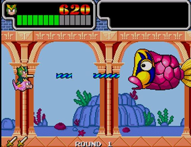 Zur Hälfte spielt sich Monster Lair wie ein Ballerspiel.