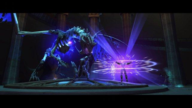 Die Kämpfe sind actionreich und schön animiert.
