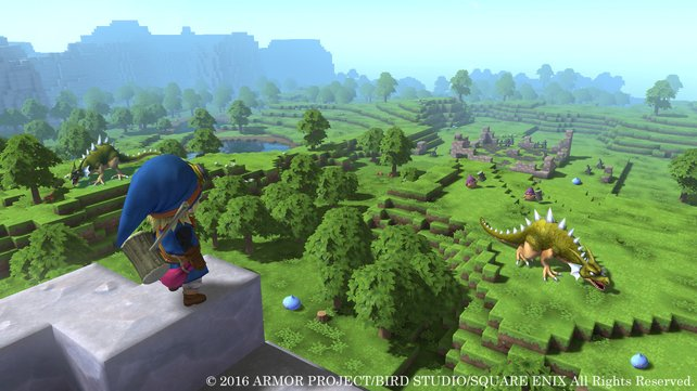 """In der Welt von Dragon Quest - Builders trefft ihr auf viele bekannte Kreaturen aus der """"Dragon Quest""""-Reihe."""