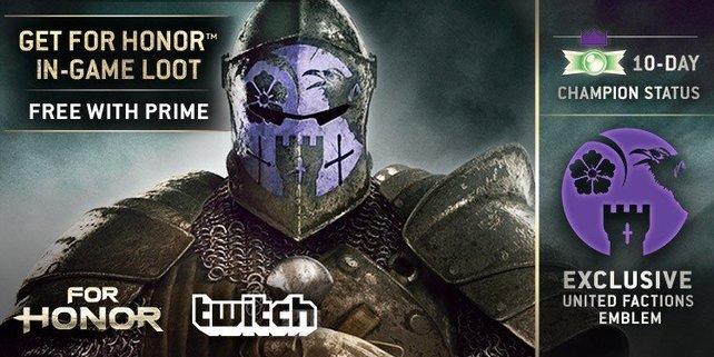 Dank Twitch Prime erhaltet ihr auch ein exklusives Emblem.