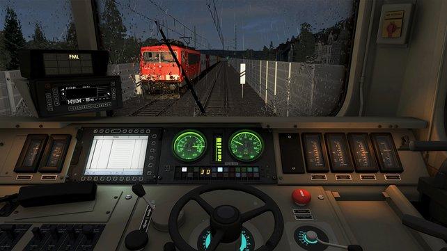Bei Wind und Wetter achtet ihr auf Signale, Bahnhöfe und pünktliche Fahrweise.