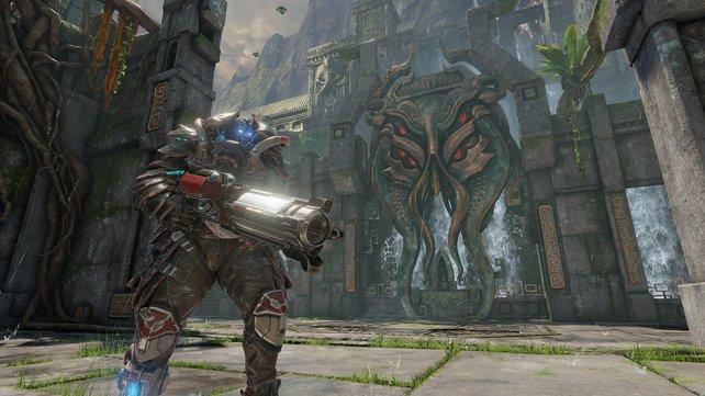 """Dicke Waffen, dicke Rüstung: Der """"Ranger"""" ist ein Sinnbild für Quake."""
