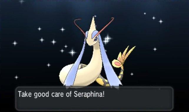 Ein Pokémon wie dieses schillernde Milotic, zählt wohl zu den schönsten Überraschungen, die einem ein Wonderlocke bereiten kann.