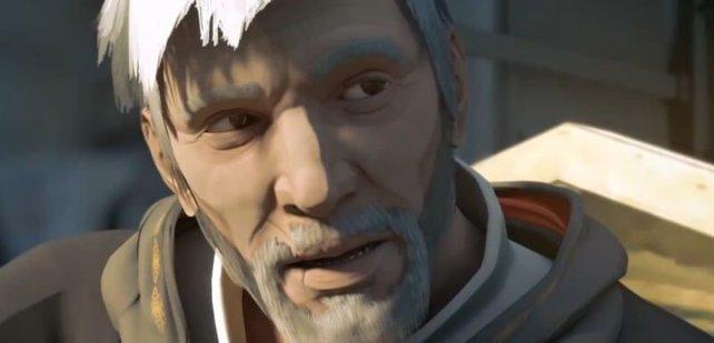 Ezio als Greis.