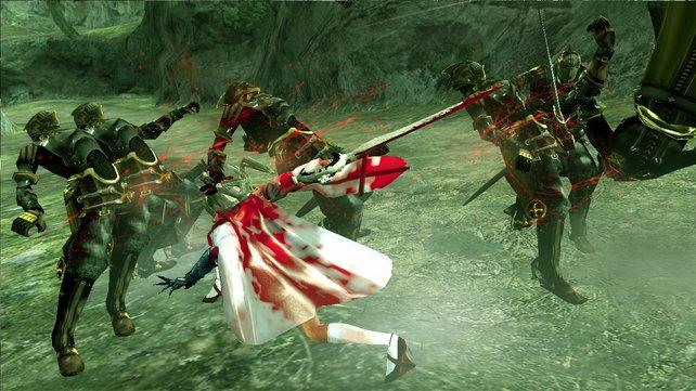 Zero hat mit ihren Schwestern bei Drakengard 3 ein paar Hühnchen zu rupfen und geht dafür über Leichen.