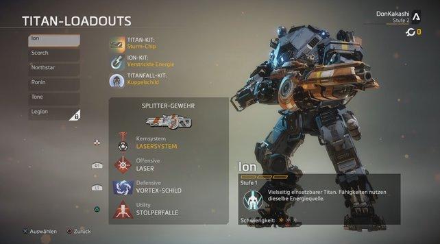 Für den Start ist der Ion eine sehr gute Wahl unter den Titans in Titanfall 2.