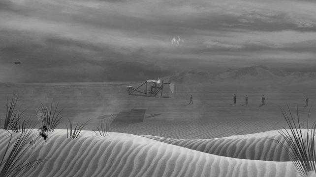 Die Eröffnungsszene mit dem berühmten Flug der Gebrüder Wright weckt nostalgische Gefühle.