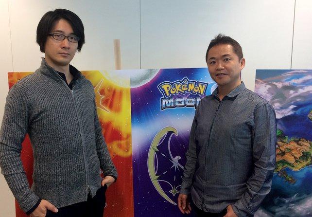 Designer und Chef-Entwickler Shigeru Ohmori (links) sowie Produzent und Komponist Junichi Masuda (rechts) standen für Fragen bereit.