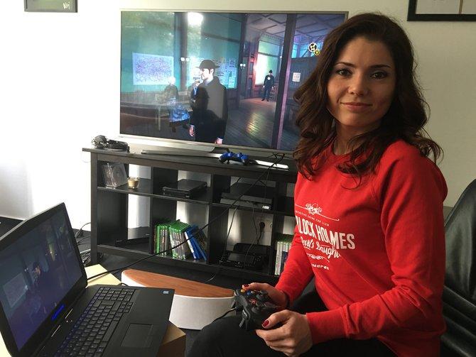 Yevheniia Sydorenko von Entwickler Frogwares präsentiert Sherlock Holmes - Devil's Daughter in der spieletipps-Redaktion.