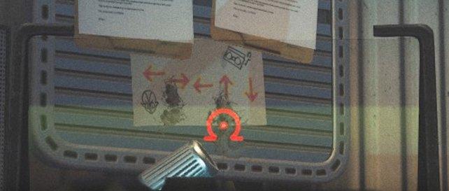 Achtet in den Kabinen des DJs auf diese Zettel mit dem Cheat-Code.