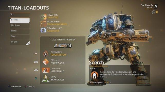 Ziemlich heiß! Der Titan namens Scorch setzt überwiegend Feuer als Waffe ein.