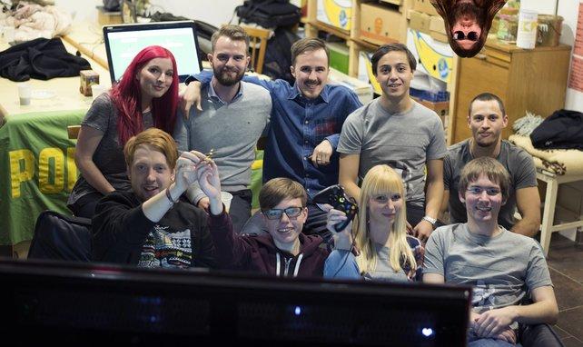Schon im Vorfeld testen die Entwickler ihr Mehrspieler-Spiel Polycrusher mit Freunden.