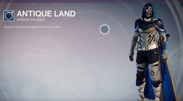 Antique Land: Aquaman wäre stolz - schöne Kombination aus Blautönen und grauen Details.