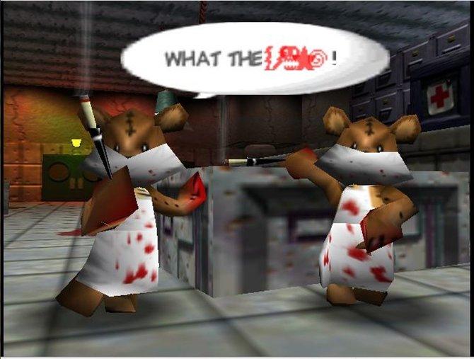 Diese fiesen Teddybären wollen Conker auf dem N64 das Fell über die Ohren ziehen.