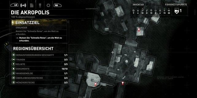 Karte: Die Akropolis.