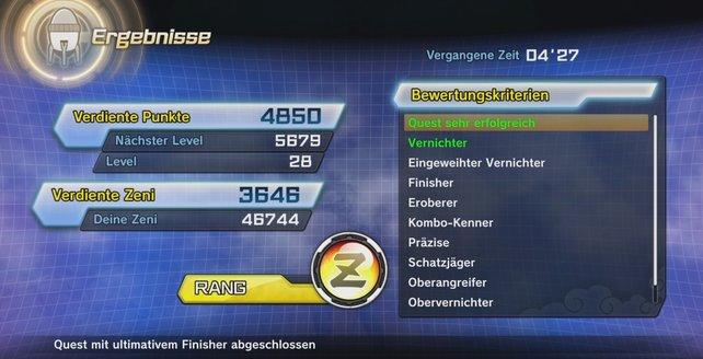 So könnt ihr in Dragon Ball Xenoverse 2 immer den Z-Rang erreichen.
