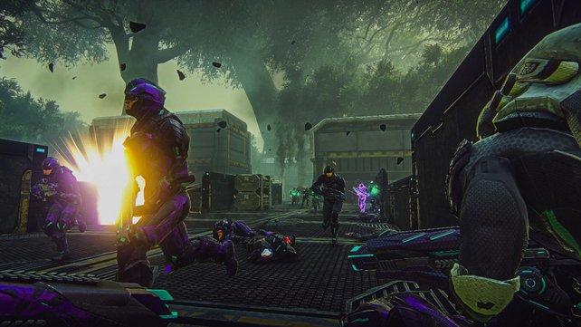 Weit über 1.000 Zocker in einer gewaltigen Online-Schlacht. Das kann nur Planetside 2 sein!