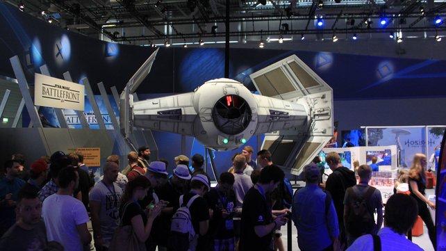 """Kaum zu übersehen: Sony ist im """"Star Wars""""-Fieber."""