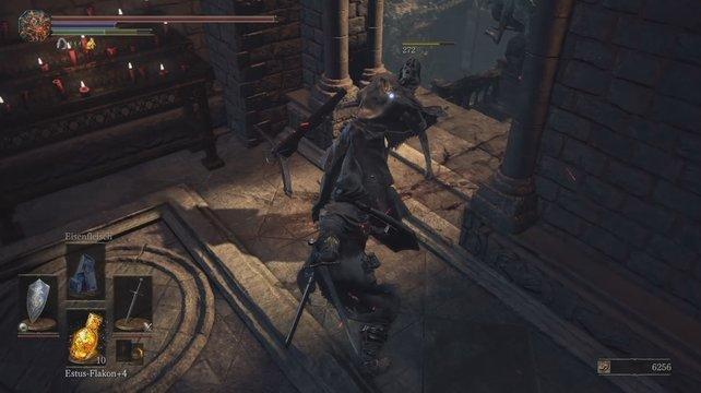 Tötet den Armbrustschützen und nutzt die Öffnung hinter ihm zum Weiterkommen.