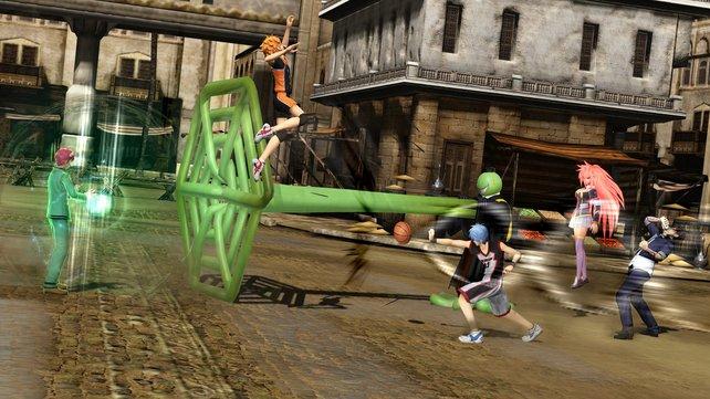 Sechs Charaktere tummeln sich zeitweise in den Arenen.