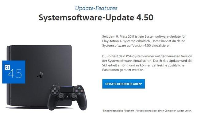 Sony stellt euch die neueste Systemsoftware für die PlayStation 4 zum Download bereit.