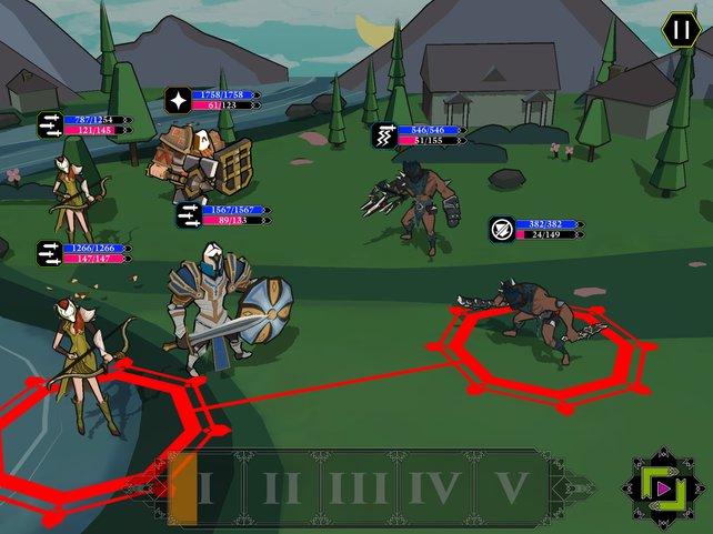 Euer maskierter Trupp besiegt rundenweise anrückende Feinde mittels Fingerwisch.