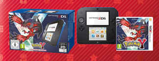 Nintendo 2DS: Paket mit Pokémon Y und Animal Crossing - New Leaf
