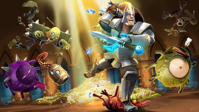 Der tapfere Ritter (so auch seine Berufsbezeichnung) Sir Painhammer ist eine der spielbaren Figuren in The Mighty Quest for Epic Loot.