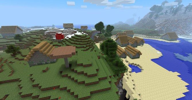 Automatisch generierte Dörfer (1) sind ebenso ...