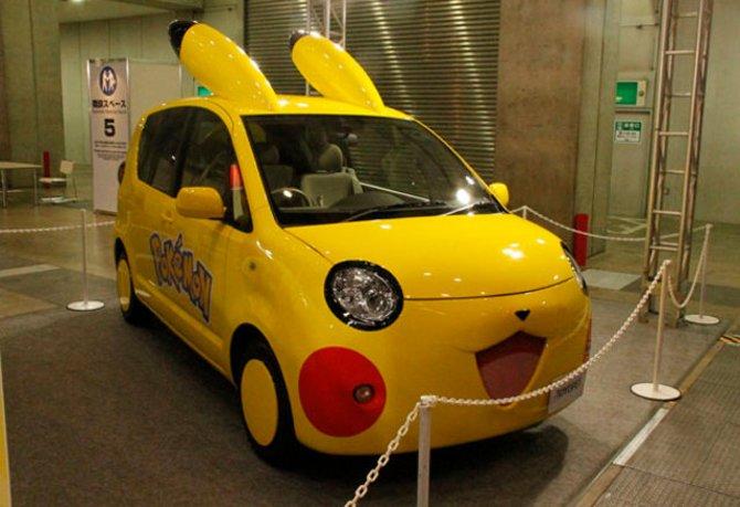 Ihr seht Pikachu als Auto.