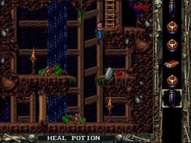 In Blackthorne spielt ihr den gleichnamigen Helden und ballert euch durch eine 2D-Welt.