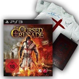 Als Hauptpreis gibt es das Action-Adventure The Cursed Crusade für die Playstation 3 und ein cooles Fanpaket mit signiertem T-Shirt und einem Notizblock.
