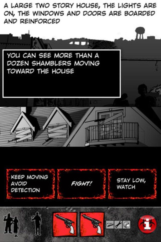 Das Spielprinzip: ZDay stellt euch Fragen, was ihr als nächstes machen wollt.