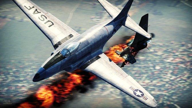 Luftkämpfe stehen bei War Thunder an der Tagesordnung.