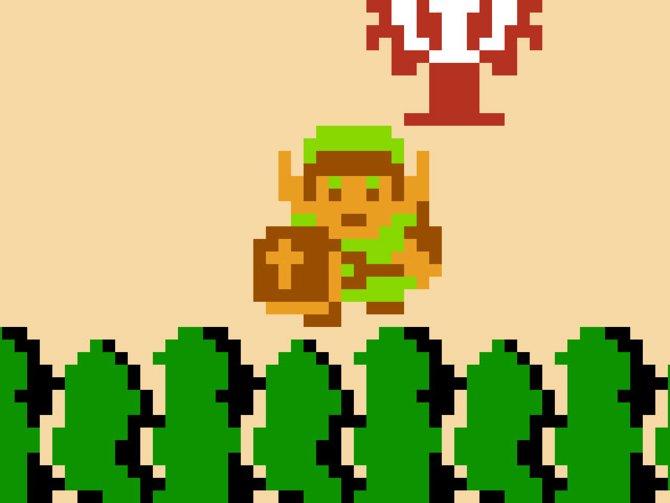 Die Metamorphose eines Helden: Im ersten Teil (links) erscheint Link als ...