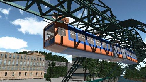 Im Schwebebahn-Simulator 2013 steuert ihr die Wuppertaler Schwebebahn.