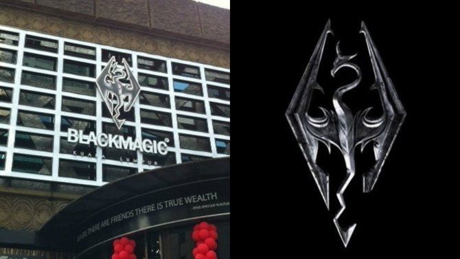 """Der """"Blackmagic""""-Club spielt offensichtlich auf Skyrim an."""