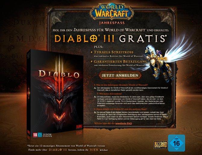 Wenn ihr euch für ein Jahres-Abonnement von World of Warcraft, den sogenannten Annual Pass (Bild links) entscheidet, packt Blizzard noch was obendrauf: Zum einen bekommt ihr bei Erscheinen des ...