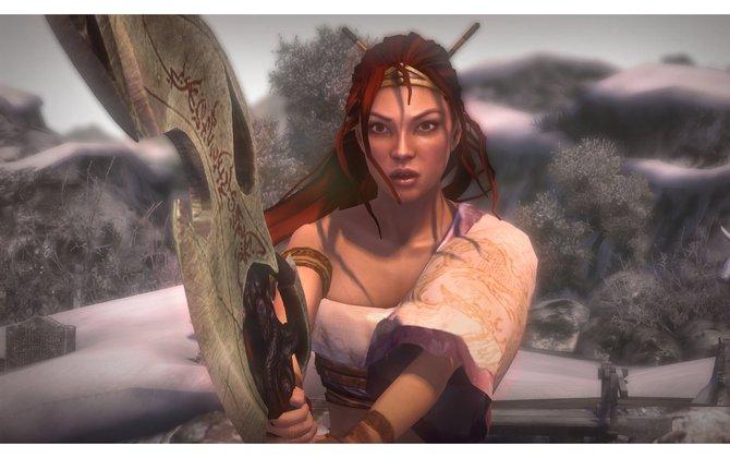 Nariko ist eine leidenschaftliche Kriegerin (Heavenly Sword).