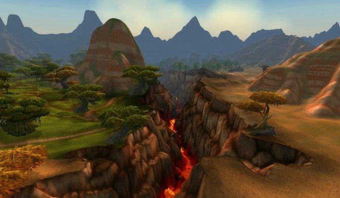 Das gespaltene Brachland in World of Warcraft...