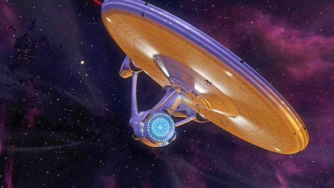 Kein Star Trek ohne Enterprise: Das treue Schiff bringt euch zu jedem Einsatzort.