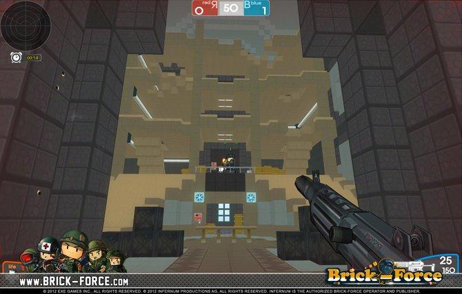 Brick-Force ist ein Shooter, in dem ihr auch kreativ sein könnt. ...