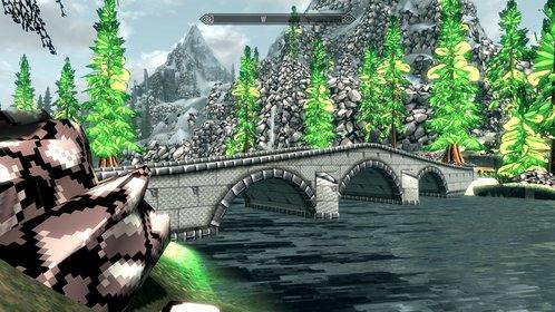 """Farbenfroh, Polygon-arm und irgendwie kindlich - all diese Eigenschaften bekommt Skyrim durch das """"Retro Project""""."""