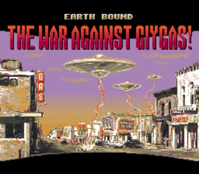 So fängt EarthBound an - mit einer witzigen Anspielung auf billige Ufo-Filme aus den 50er Jahren.
