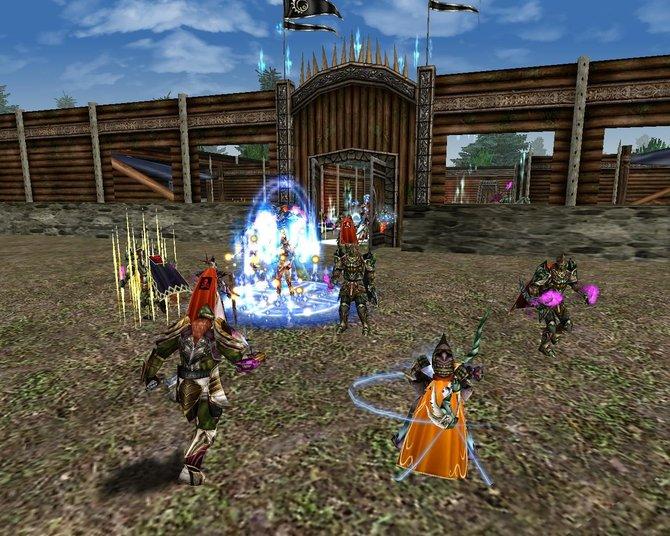 Die Spielwelt in Knight Online World ist in einer mittelalterlichen Fantasiewelt ...