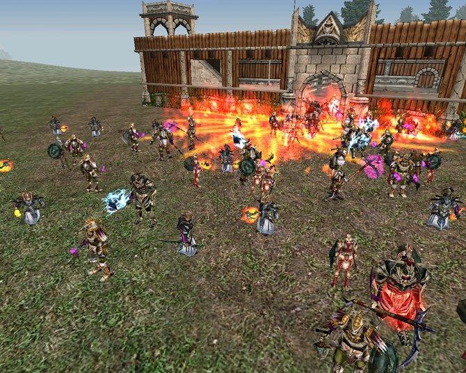 Große Massenschlachten in Knight Online sind an der Tagesordnung.