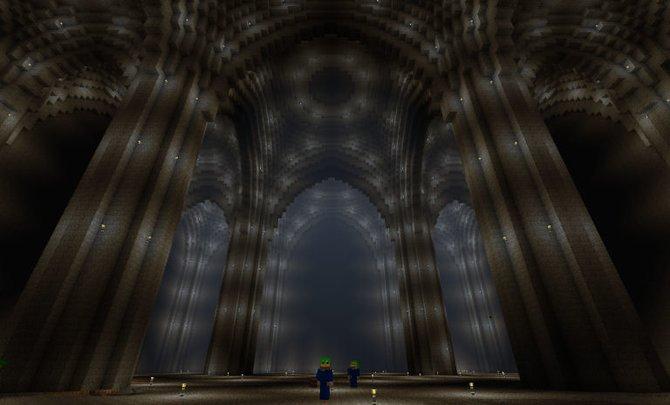 Selbst vor riesigen Gewölben haben die Erbauer keinen Halt gemacht.