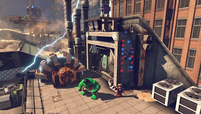 Auch die Lego Marvel Super Heroes statten der Vita einen Besuch ab.